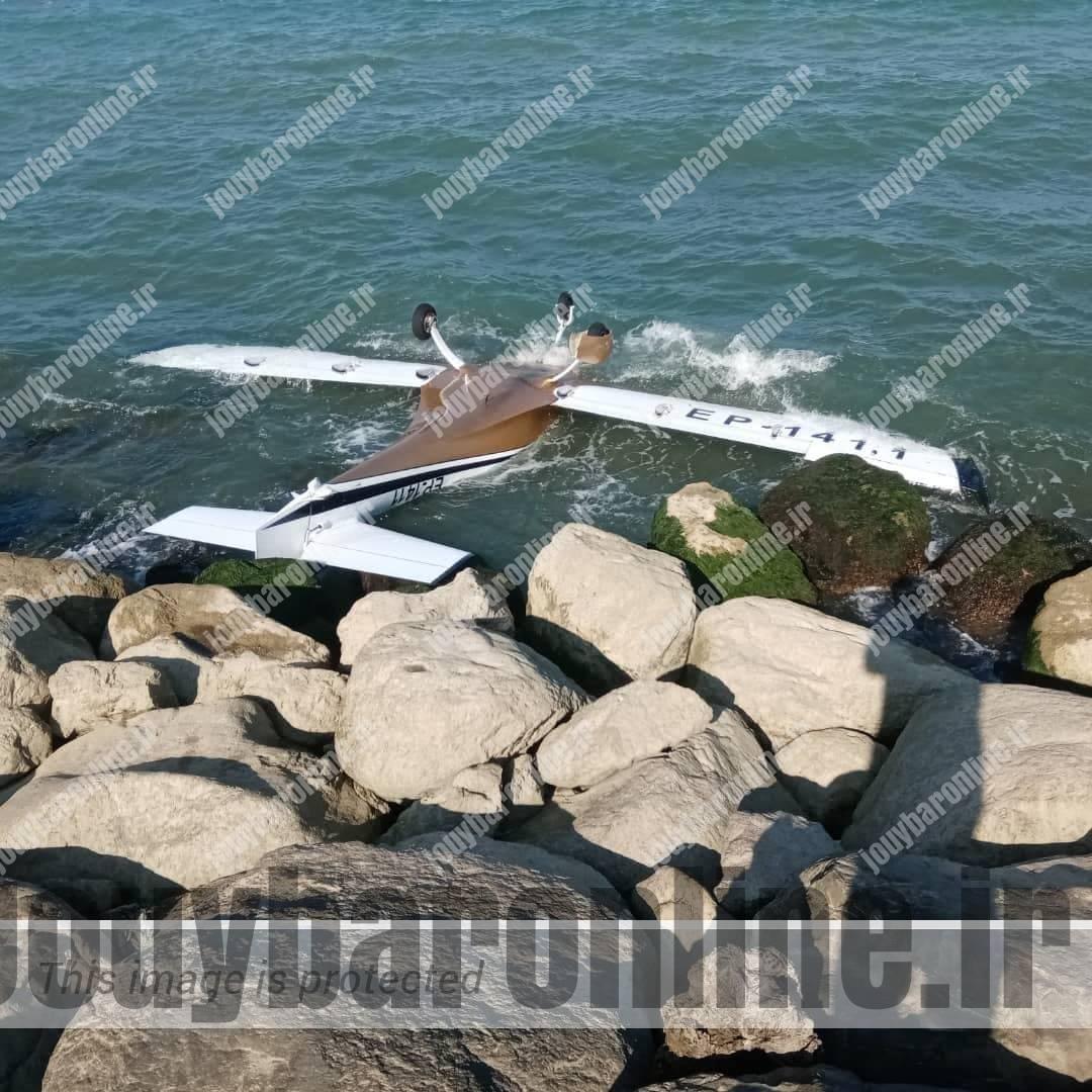 فرود هواپیما روی دریای خزر تلفات نداشت